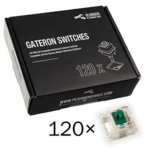 Суичове за механична клавиатура Glorious Gateron Green 120 броя, зелени image