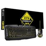 Sharkoon Shark Zone GK15, комплект клавиатура и мишка, 3 цвята на осветление, 3.200dpi, USB, без кирилизация, черни image
