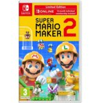 Super Mario Maker 2 + 12 месеца Nintendo Switch Online и Stylus (писалка), за Nintendo Switch image