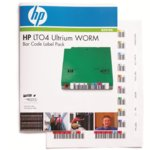 HP LTO4 Ultrium WORM Bar Code label pack (110 pack) image