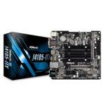 Дънна платка ASRock J4105-ITX, вграден четириядрен Gemini Lake Intel Celeron J4105 1.5/2.5 GHz, PCI-E (HDMI&DVI&VGA), DDR4, LAN, 4x SATA3 6.0 Gb/s, 2x USB, Mini ITX image