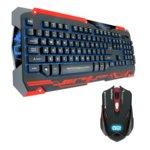 Комплект клавиатура и мишка Dragon War Sencari GKM-001, черни image