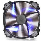 Вентилатор 200mm, DeepCool XFAN 200BL, 3/4 пинов, 700rpm, Blue LED image