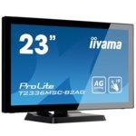 """Монитор Iiyama Prolite T2336MSC-B2AG, 23""""(58.42 cm) IPS тъч панел, FullHD, 1ms, 12000000:1, 300 cd/㎡, HDMI, DVI, VGA image"""