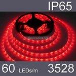 LED лента WFS3528-60R, 4.8W/m, DC 12V, IP65, червена, 5m ролка image