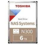 "6TB Toshiba N300 High-Reliability Hard Drive, SATA 6Gb/s, 7200rpm, 3.5"" (8.89cm), Bulk image"