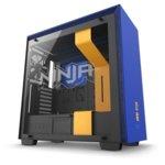 Кутия NZXT H700i Smart Ninja Edition, E-ATX, M-ATX, Mini-ITX, 2x USB 3.1, 4x включени вентилатора, RGB, прозорец от закалено стъкло, синя/черна, без захранване image