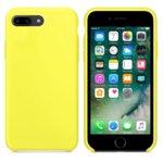 Калъф за Apple iPhone 7/8 Plus, силиконов, Soft touch, Жълт image