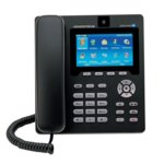 "VoIP телефон Grandstream GXV3140, 4.3"" (10.92 cm) цветен дисплей, 1.3Mpix камера, 3 линии, Wi-Fi, Bluetooth 4.0, 2x LAN10/100, 2x USB, SD слот, Skype сертифициран, черен image"
