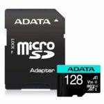 128GB SUDXC с адаптер, Adata V30S, UHS-I, скорост на четене 100МB/s, скорост на запис 80MB/s image