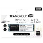 Памет SSD 512GB, Team Group MP33, NVMe, M.2 (2280), скорост на четене 1700 MB/s, скорост на запис 1400 MB/s image