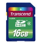 16GB SDHC, Transcend, Class 4, скорост на четене 12MB/s, скорост на запис 5MB/s image