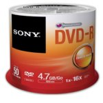 DVD-R media 4.7GB, Sony 16x, 50бр. image