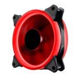 Вентилатор 120mm Makki MAKKI-FAN120-RD-2R, 4-pin, 1100rpm, червена LED подсветка image