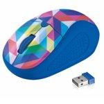 Мишка Trust Primo Wireless Mouse, оптична (1600dpi), безжична, USB, синя-текстура image