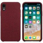 Калъф за Apple iPhone XR, силиконов с текстил, Hiha, червен image