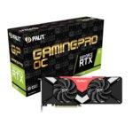 Видео карта Nvidia GeForce RTX 2080, 8GB, Palit RTX 2080 GamingPro OC, PCI-E 3.0, GDDR6, 256 bit, 3x Display Port, 1x HDMI, 1x USB Type C, Real Time Ray Tracing технология, RGB подсветка image