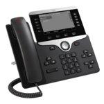 """VoIP телефон Cisco 8811, 5.0""""(12.70 cm) VGA LCD дисплей, 5 линии, PoE, 2x 10/100/1000Base-T, черен image"""