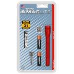 Фенер Mini MAGLITE M3A036U, 2 батерии AAA, 9 lm, водоустойчивост, червен image