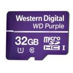 32GB microSDXC, Western Digital Purple, Class 10 UHS-I, скорост на четене 80 MB/Sec, скорост на запис 50 MB/Sec image