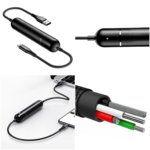 Външна батерия/power bank/ Baseus Energy Two-in-one Power Bank Lightning USB Cable, 2500 mAh, черна image