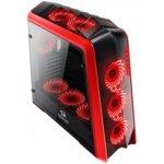 Кутия Redragon Jetfire, ATX, 2x USB 3.0, с прозорец, черна/червена, без захранване image