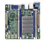 Дънна платка за сървър ASRock Rack C2550D4I, LGA1283, DDR3 ECC/non-ECC Unbuffered UDIMM, 3x LAN1000, 2x SATA 6Gb/s, 4x SATA 3Gb/s, 2x SATA 6Gb/s, 4x SATA 6Gb/s, RAID 0, 1, RAID 0, 1, 10, 2x USB 2.0, Mini ITX image