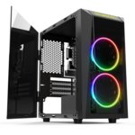 Gamdias Case mATX Talos E1 RGB Tempered glass
