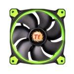 Вентилатор 140mm, Thermaltake Riing 14 RGB, 3-pin, 1500 rpm, зелен image