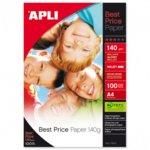 Фотохартия Apli Best Price, А4, гланцирана, 140 g/m2, 100 листа image
