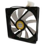 Вентилатор 120mm за кутия Delux CF4, 4pin, 1500rpm, прозрачен, зелена LED подсветка image