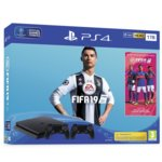 Конзола Sony PlayStation 4 Slim 1TB + FIFA 19 & DualShock 4 Bundle, черна image