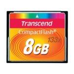 Карта памет 8GB CompactFlash, Transcend, 133x, скорост на четене 50MB/s, скорост на запис 20MB/s image
