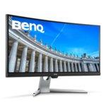 """Монитор BenQ EX3501R 9H.LGJLA.TSE, 35"""" (88.90 cm) VA извит панел, UWQHD, 4ms, 20,000,000:1, 300 cd/m2, Display Port, 2x HDMI, 3x USB 3.0, 1x USB Type C image"""