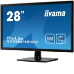 "Монитор Iiyama Prolite X2888HS-B2, 28""(71.12 cm) MVA панел, Full HD, 5ms, 12 000 000:1, 300cd/m2, Display Port, HDMI, DVI, VGA image"