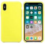 Калъф за Apple iPhone X/XS, силиконов, Soft touch, жълт image