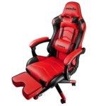 Геймърски стол Raidmax Drakon DK709RD, газов амортисьор, стоманено шаси, максимално количество до 120кг черно/червен image