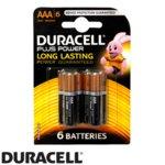 Батерии алкални Duracell LR03/MN2400, ААА, 1.5 V, 6 бр. в опаковка image