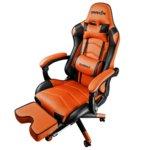 Геймърски стол Raidmax Drakon DK709OG, газов амортисьор, стоманено шаси, максимално количество до 120кг оранжево/черен image