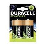 Батерии Duracell, D, 2200mAh, 1.2V, Ni-MH, 2 бр. image