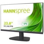 Монитор Hannspree HS 248 PPB, 23.8″ (60.45 cm) TFT панел, Full HD, 5 ms, 80000000:1, 250cd/m2, HDMI, DisplayPort, VGA image