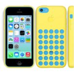 Калъф iPhone 5C, страничен протектор с гръб, силиконов, DeTech, жълт image
