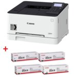 Лазерен принтер Canon i-SENSYS LBP621Cw в комплект с тонер касети Canon CRG-054H BK/C/M/Y, цветен, 600 x 600 dpi, 18 стр/мин, LAN, Wi-Fi, A4 image