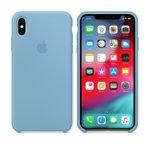 Калъф за iPhone XS Max, Apple Silicone Case - Cornflower, силикон, син image