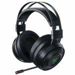Слушалки Razer Nari, безжични(Wireless 2.4GHz), микрофон, гейминг, , USB, до 24 часа време за работа, THX Spatial Audio, подсветка, черни image
