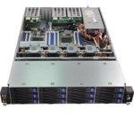 """Barebone Сървър ASRock 2U12L6SW-2TS6, поддържа Intel Xeon processor E5-1600/2600/4600 & v2, Без твърд диск(12x 3.5"""" Hot-plug), 16x DIMM DDR3 слота, 2x PCIe 3.0, 10G Lan, 2U Rackmount, 650W захранване image"""
