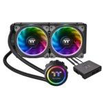 Водно охлаждане за процесор Thermaltake Floe Riing RGB 240 TT Premium Edition, съвместимост със сокети LGA 2066/2011-3/2011/1366/1156/1155/1151/1150 & AMD TR4/AM4/FM2/FM1/AM3+/AM3/AM2+/AM2 image