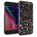 Калъф за Apple iPhone 8, хибриден, iPaint Glitter Flakes 840803, прозрачен image