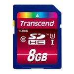 8GB SDHC, Transcend Ultimate 600x, Class 10, UHS-I, скорост на четене 90MB/s, скорост на запис 10MB/s image