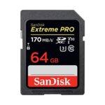 64GB SDXC SanDisk Extreme Pro, Class 10 UHS-I, скорост на четене до 170 MB/s, скорост на запис до 90 MB/s image